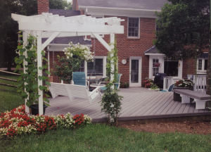 Composite deck in Charlotte with Pergola by Archadeck of Charlotte, the Backyard Company