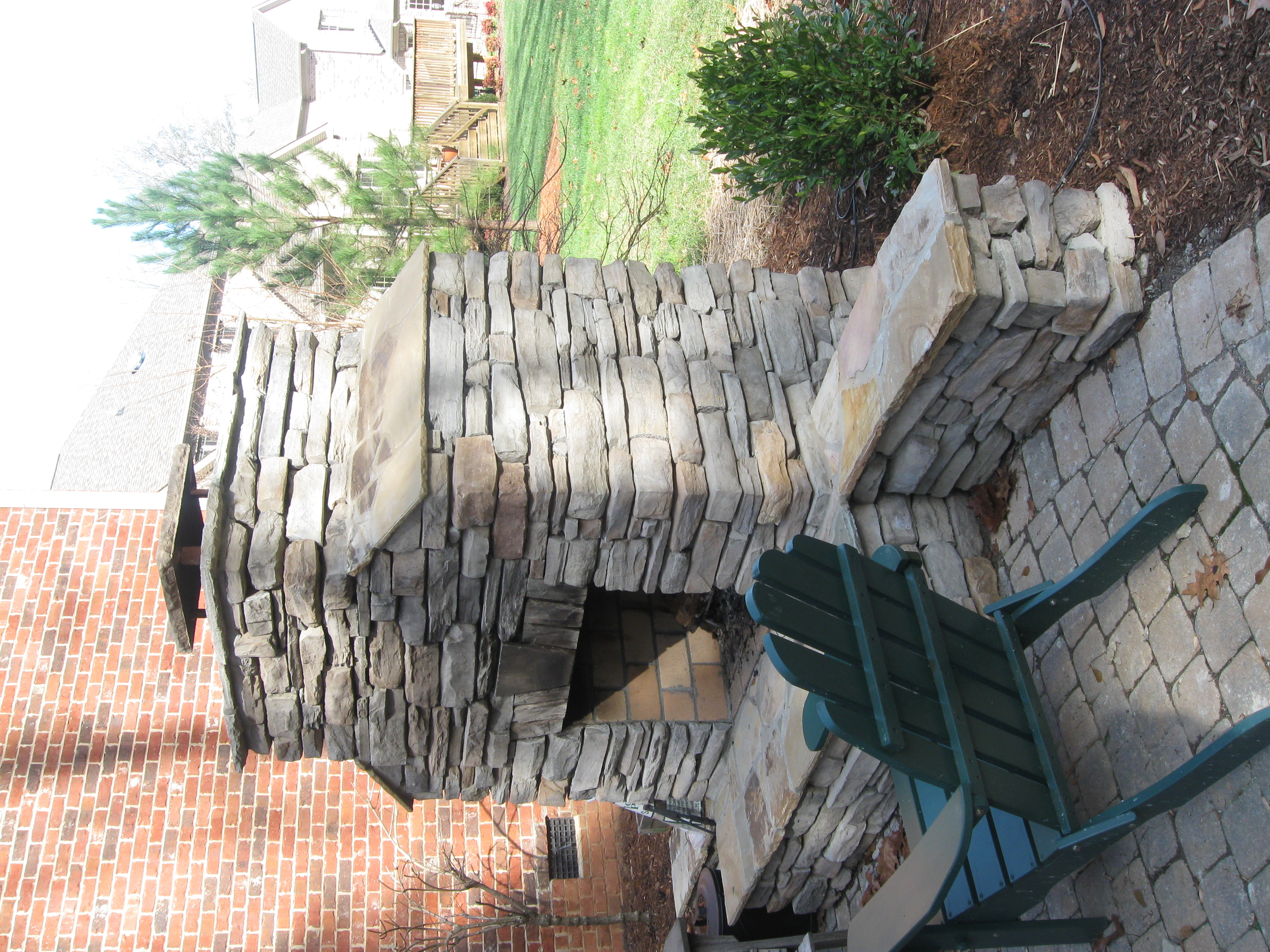 new stone outdoor living projects including outdoor fireplaces in