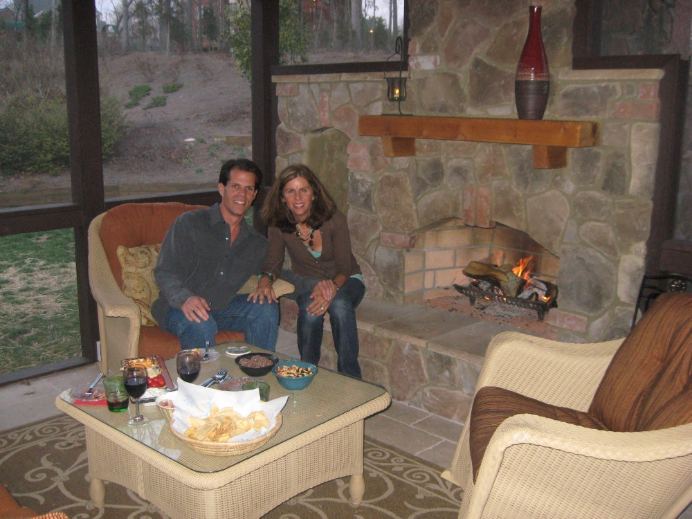 Putting your Outdoor Fireplace integrated into your screen porch/ covered patio (2/2)