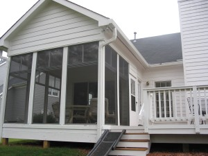 covered porch with window enclosure system