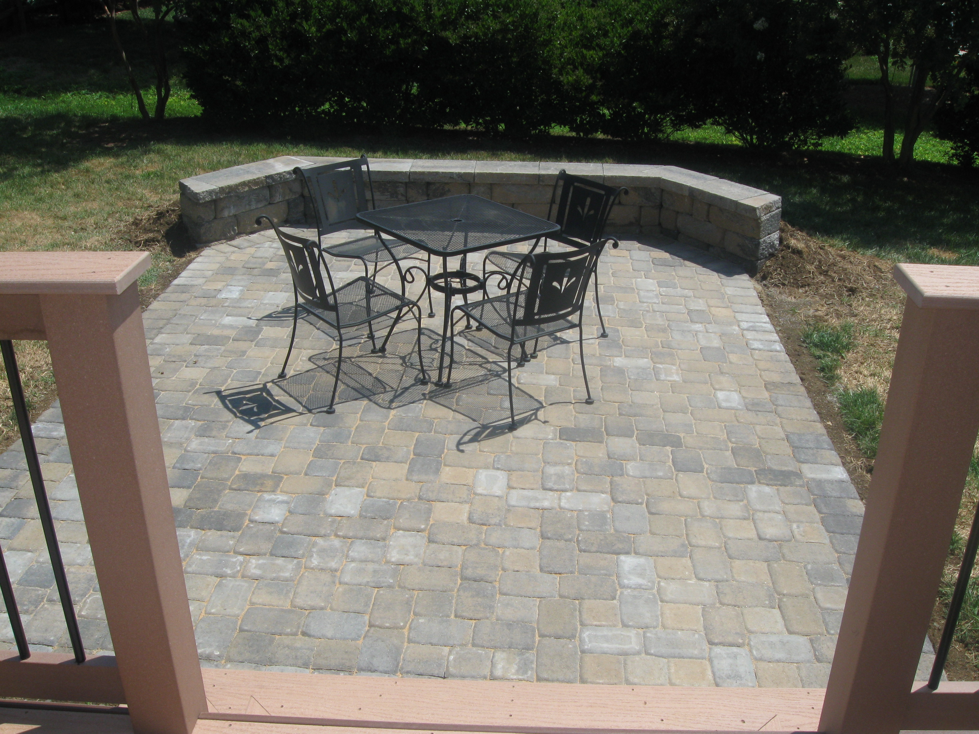 Deck and patio together in charlotte we do it all the time archadeck of charlotte - Paver designs for backyard ...