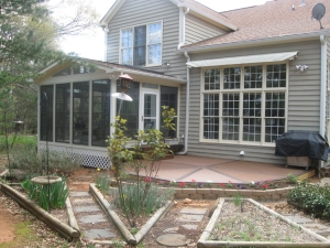 Charlotte Eze Breeze Porch with Trex Transcends decking