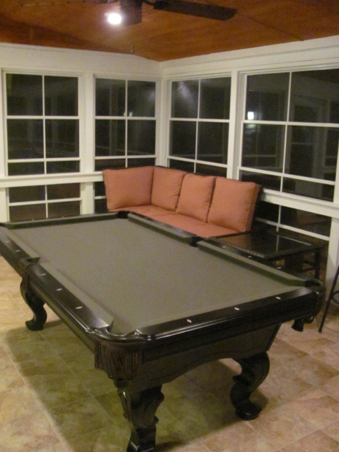 Archadeck of Charlotte EZE Breeze billiards sunroom