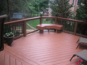 Archadeck of Charlotte custom designed Trex deck