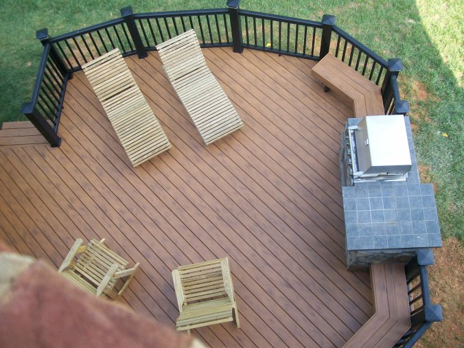 Timber Tech Earthwoods Teak composite deck and Black Radiance Composite Rail