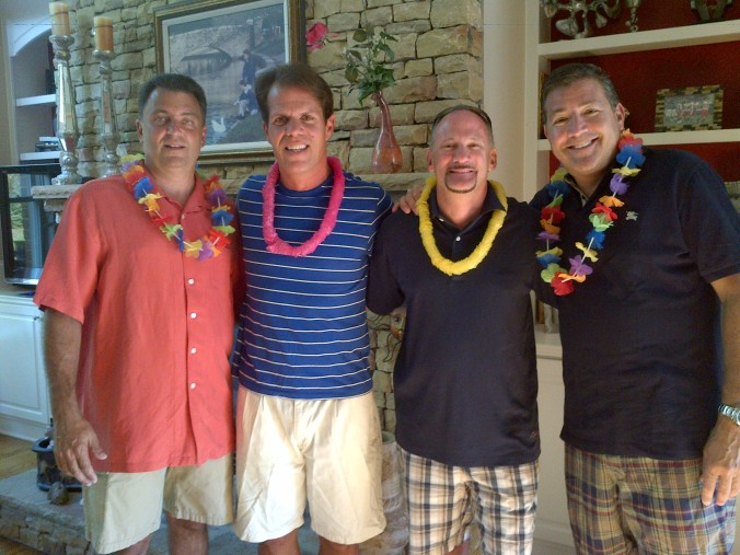 Eric Kent turned 50 and celebrated with friends in outdoor living space