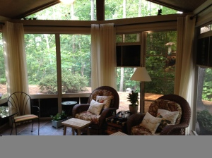 Screen porch with EZE Breeze windows in Charlotte