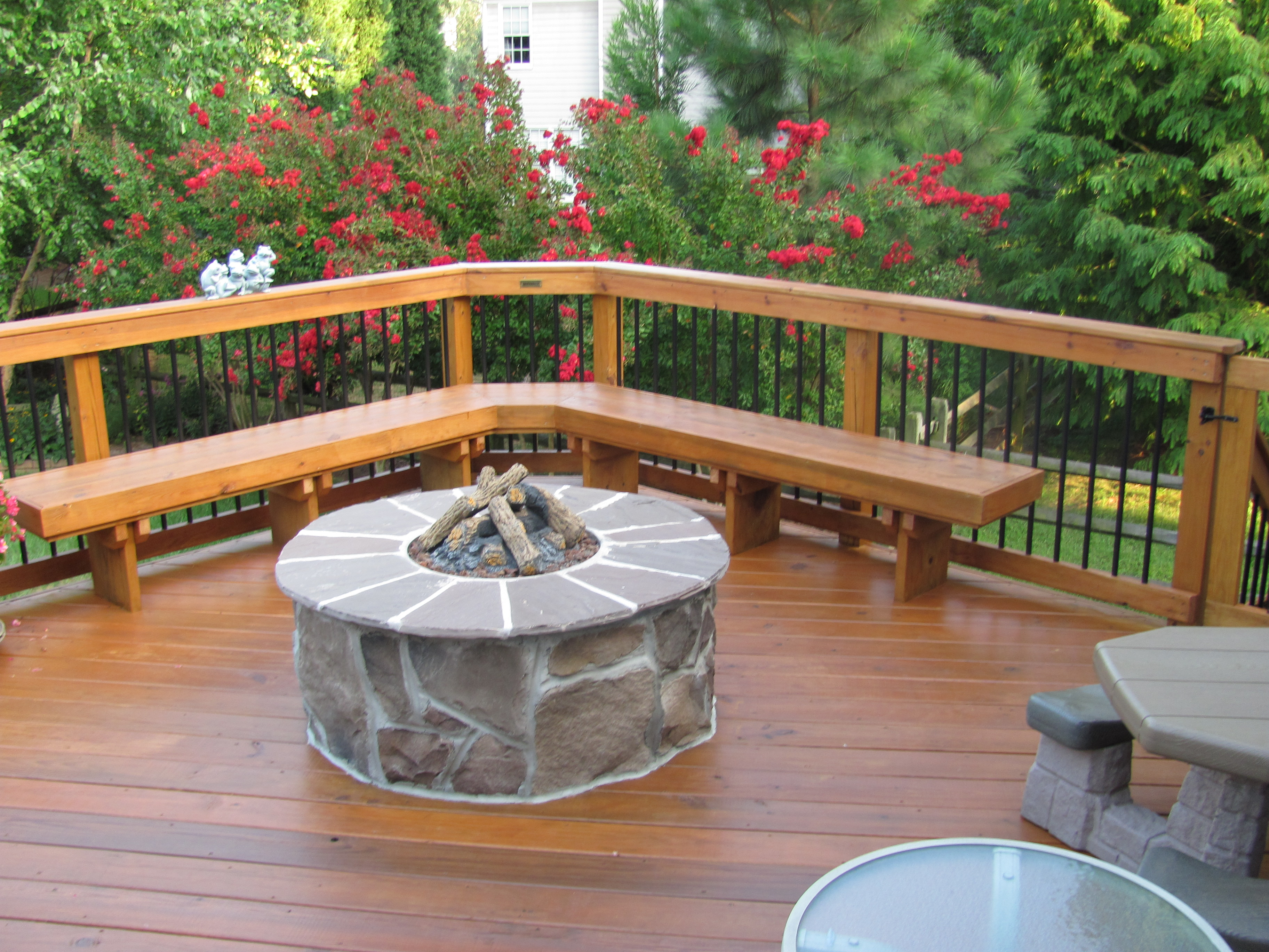 Archadeck Deck In Charlotte With Fire Pit