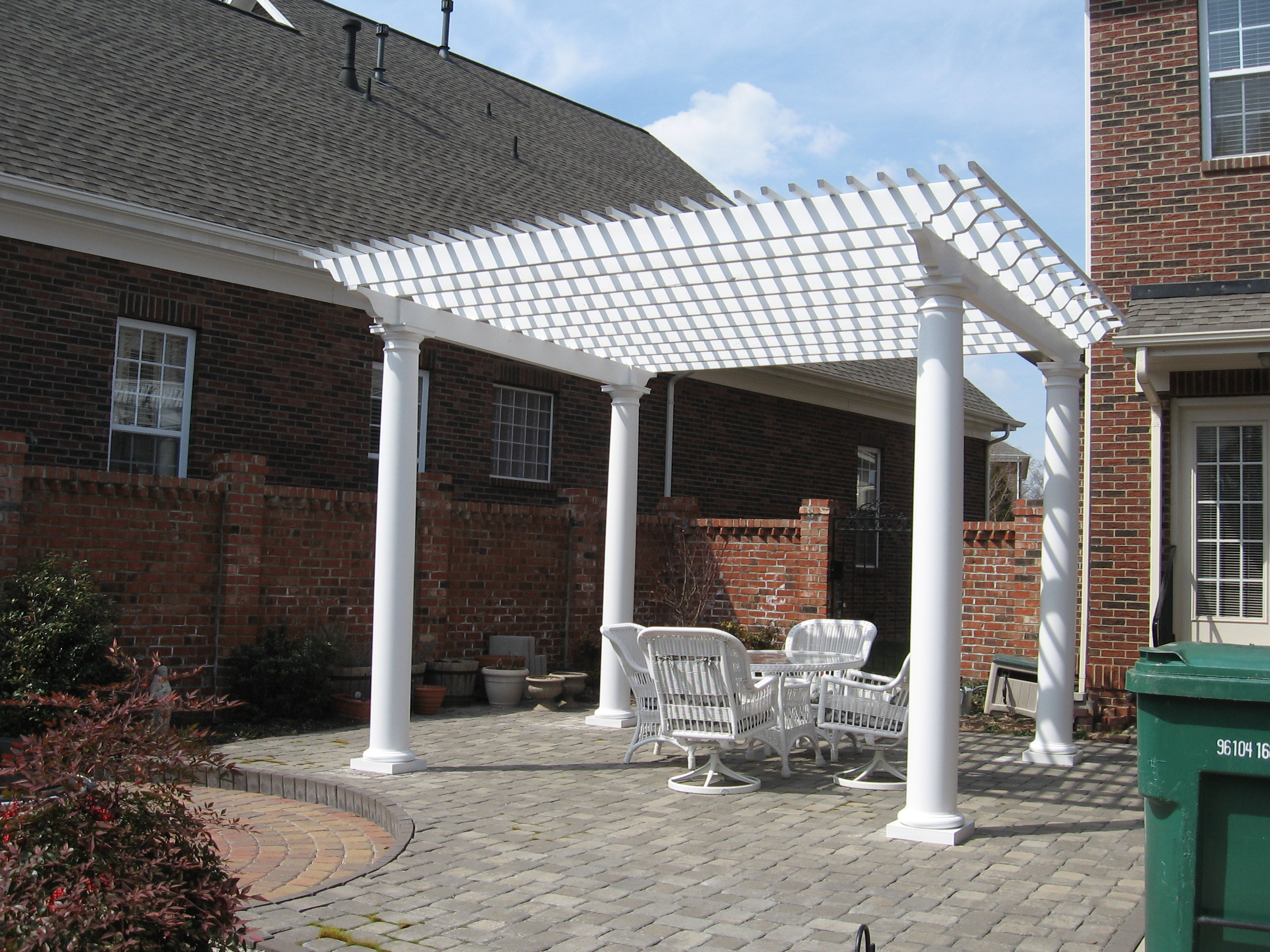 Archadeck Of Charlotte Built This Pergola And Paver Patio