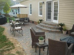 Archadeck of Charlotte paver patio with paver steps
