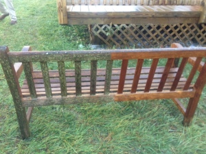 Wood renewal Charlotte Bench - Before and After