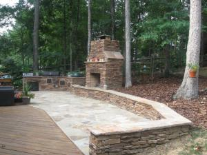 Archadeck outdoor fireplace and patio