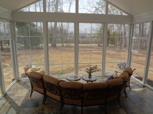 Charlotte sunroom with Eze Breeze windows