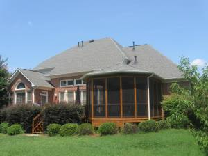 Archadeck of Charlotte designed and built this gazebo style screen porch with Cabot Stain
