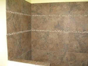 Value Remodelers and Handyman Services installed this tile in a bathroom