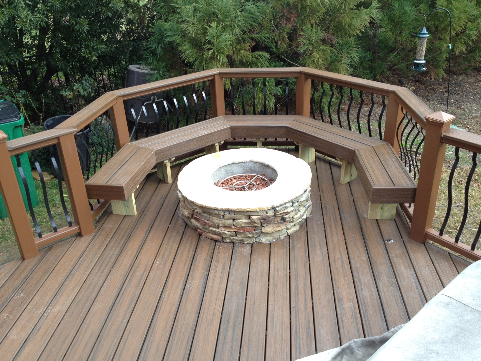 fire pit on deck | Archadeck of Charlotte