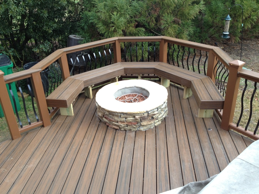 Can you place a fire pit on a deck?