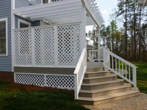 Archadeck of Charlotte designed and built this lattice privacy screen to keep neighbors view limited