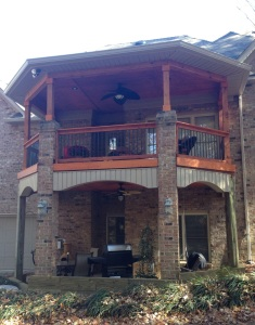 Archadceck of Charlotte designed and built this double-deck open porch in Matthews, NC