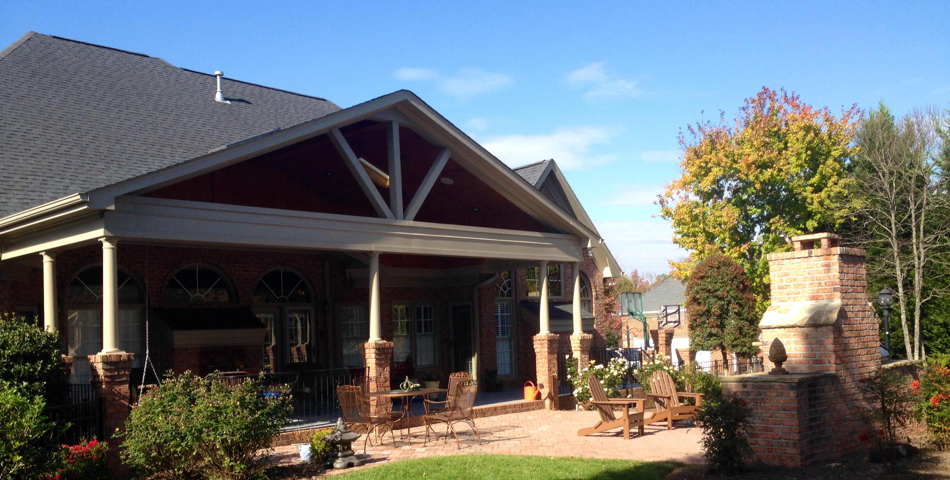 A Large Covered Patio In Waxhaw, NC Designed And Built By Archadeck