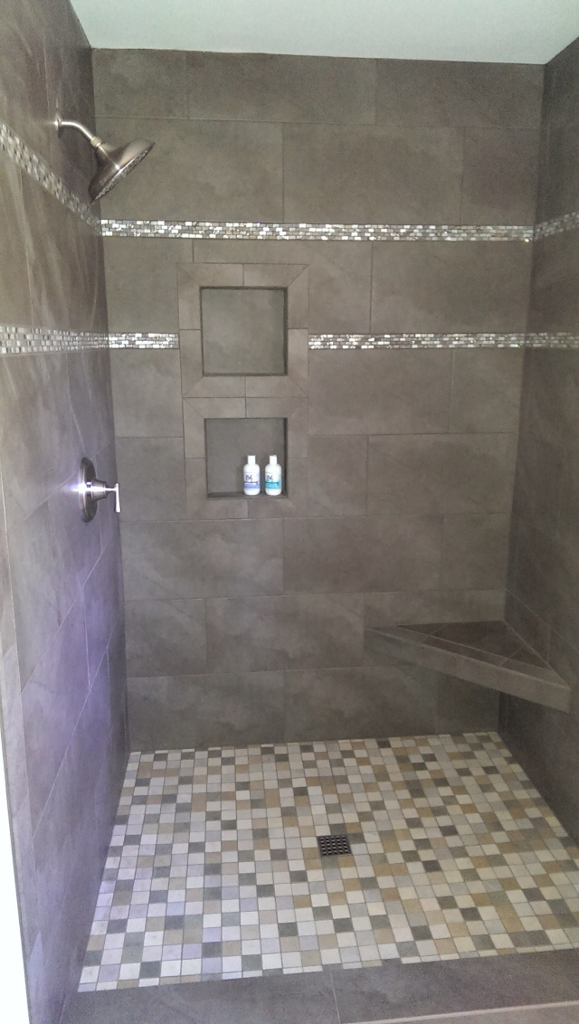 What are my tile options for my Charlotte master bathroom remodel