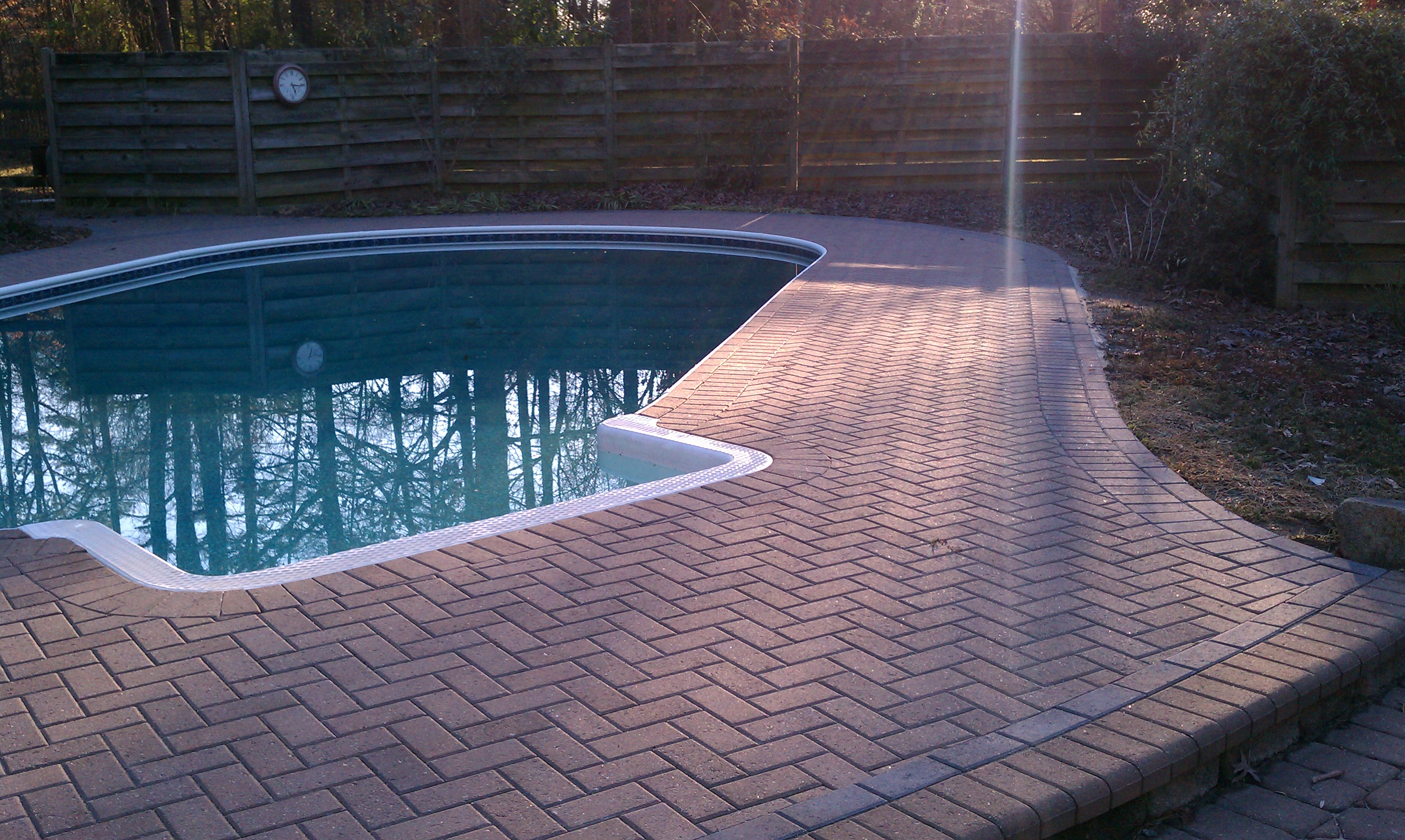 Brick Pool Deck What Are My Choices For Pool Decks  Archadeck Of Charlotte