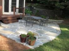 Retaining wall with decorative stone and multi-level in Charlotte by Archadeck